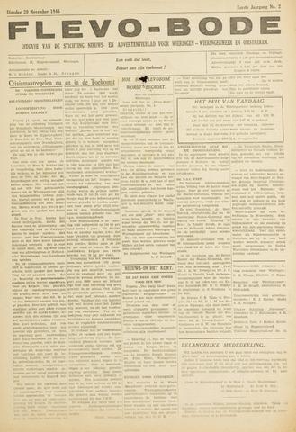 Flevo-bode: nieuwsblad voor Wieringen-Wieringermeer 1945-11-20