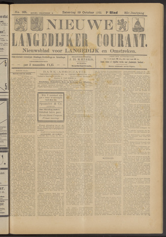 Nieuwe Langedijker Courant 1921-10-29