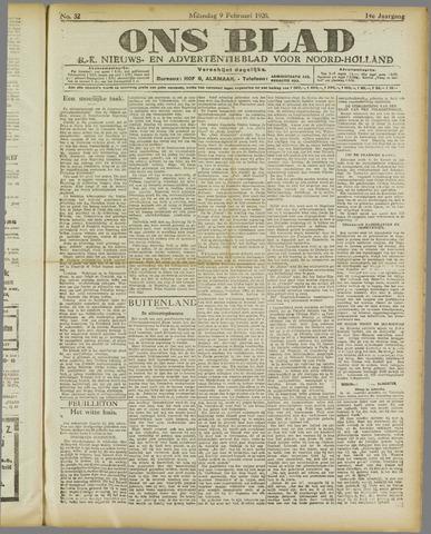Ons Blad : katholiek nieuwsblad voor N-H 1920-02-09