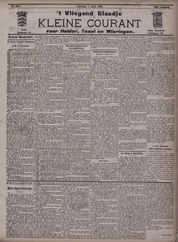 Vliegend blaadje : nieuws- en advertentiebode voor Den Helder 1900-04-07