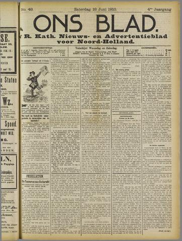 Ons Blad : katholiek nieuwsblad voor N-H 1910-06-18