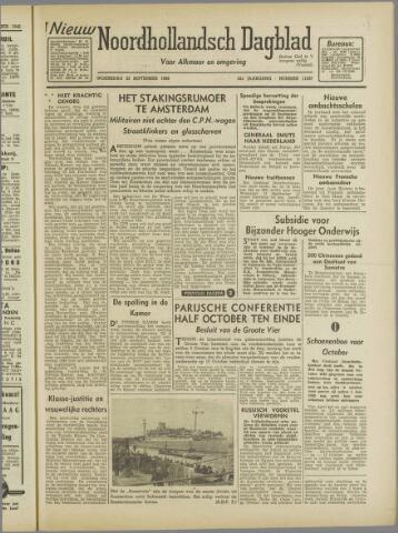 Nieuw Noordhollandsch Dagblad : voor Alkmaar en omgeving 1946-09-25