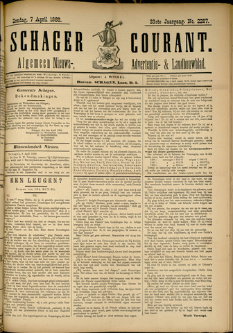 Schager Courant 1889-04-07