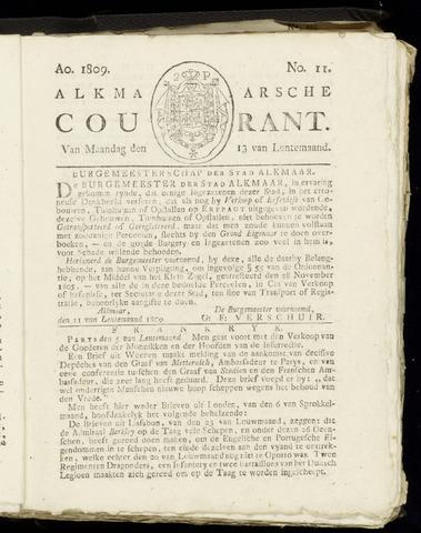 Alkmaarsche Courant 1809-03-13