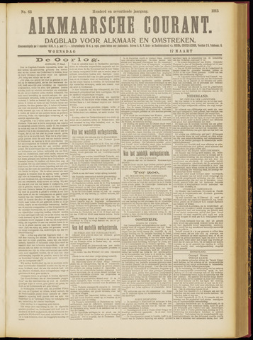 Alkmaarsche Courant 1915-03-17