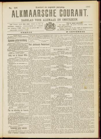 Alkmaarsche Courant 1907-09-27