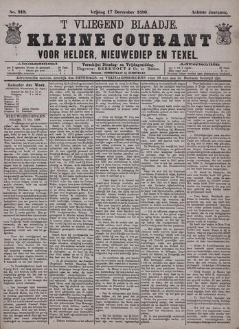 Vliegend blaadje : nieuws- en advertentiebode voor Den Helder 1880-12-17