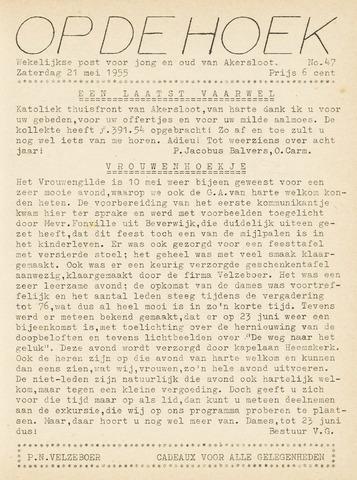 Op De Hoek, weekblad voor Akersloot 1955-05-21