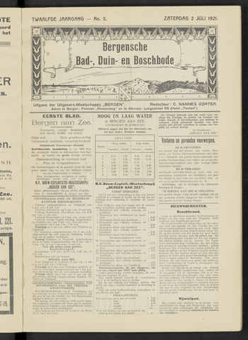 Bergensche bad-, duin- en boschbode 1921-07-02