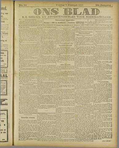 Ons Blad : katholiek nieuwsblad voor N-H 1919-02-07