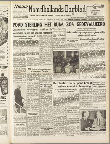 Nieuw Noordhollandsch Dagblad : voor Alkmaar en omgeving 1949-09-19