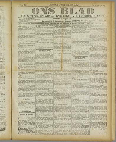 Ons Blad : katholiek nieuwsblad voor N-H 1919-09-09