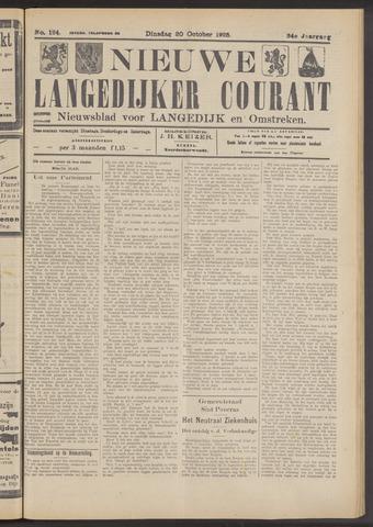 Nieuwe Langedijker Courant 1925-10-20