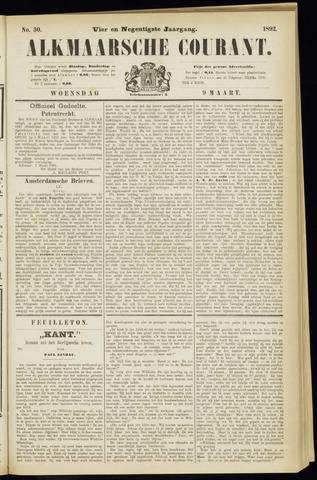 Alkmaarsche Courant 1892-03-09