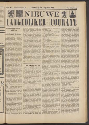 Nieuwe Langedijker Courant 1925-08-13