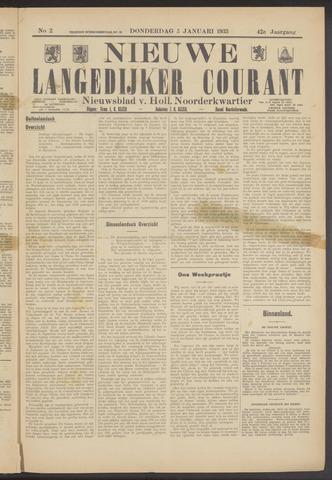 Nieuwe Langedijker Courant 1933-01-05