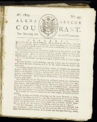 Alkmaarsche Courant 1809-10-23