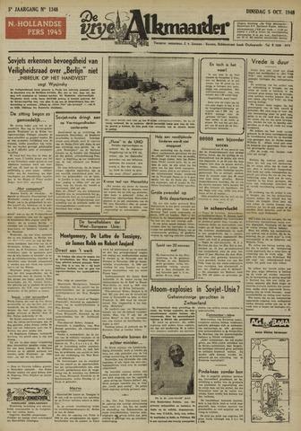 De Vrije Alkmaarder 1948-10-05