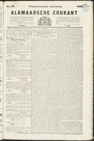 Alkmaarsche Courant 1867-07-07