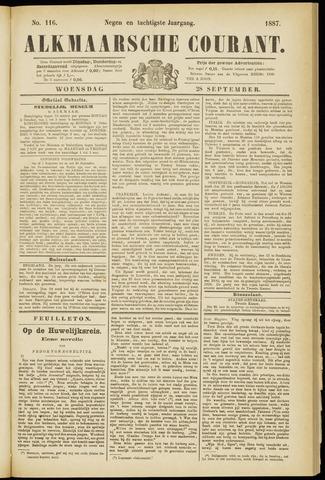 Alkmaarsche Courant 1887-09-28