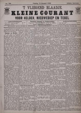 Vliegend blaadje : nieuws- en advertentiebode voor Den Helder 1880-01-13