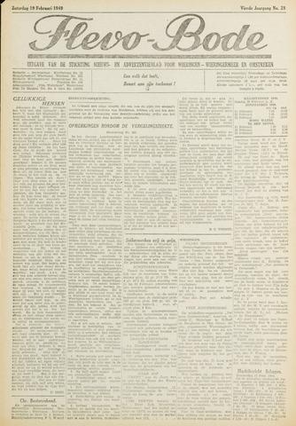 Flevo-bode: nieuwsblad voor Wieringen-Wieringermeer 1949-02-19