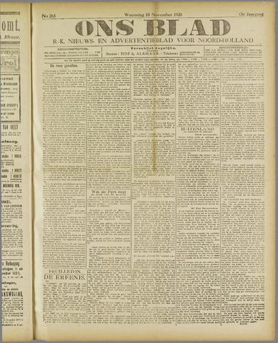 Ons Blad : katholiek nieuwsblad voor N-H 1920-11-10