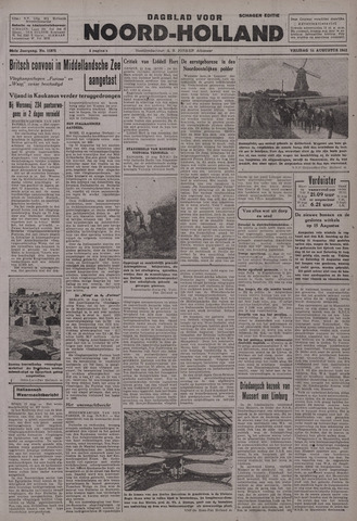 Dagblad Noord-Holland, Schager editie 1942-08-14