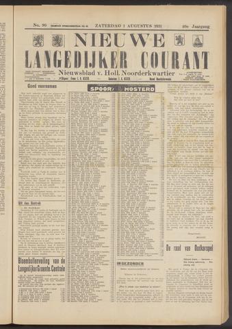 Nieuwe Langedijker Courant 1931-08-01