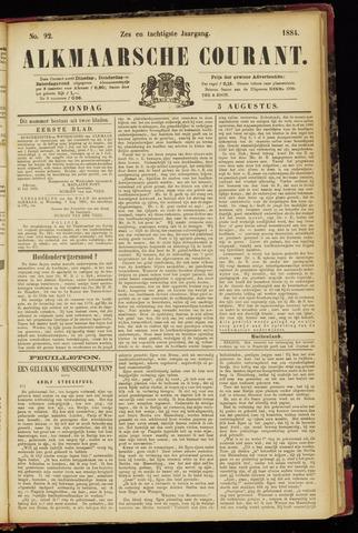 Alkmaarsche Courant 1884-08-03