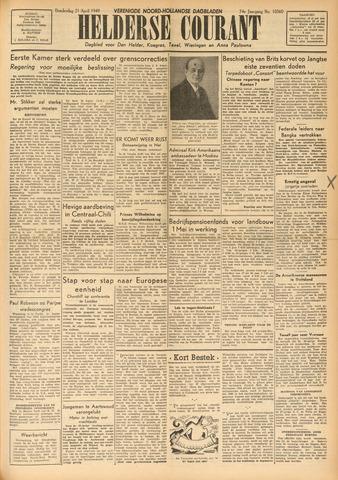 Heldersche Courant 1949-04-21
