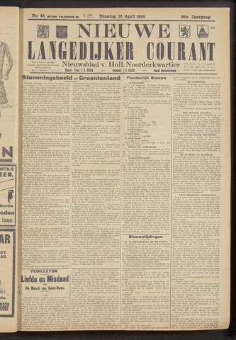 Nieuwe Langedijker Courant 1929-04-16