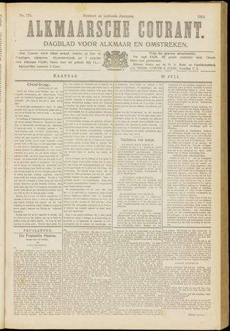 Alkmaarsche Courant 1914-07-27