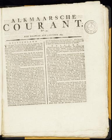 Alkmaarsche Courant 1814-10-03