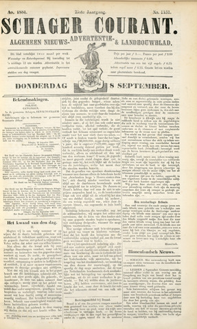 Schager Courant 1881-09-08
