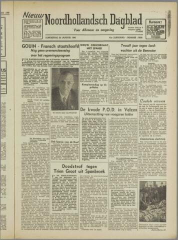 Nieuw Noordhollandsch Dagblad : voor Alkmaar en omgeving 1946-01-24