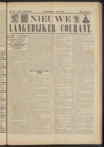 Nieuwe Langedijker Courant 1923-07-05