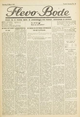 Flevo-bode: nieuwsblad voor Wieringen-Wieringermeer 1947-03-22