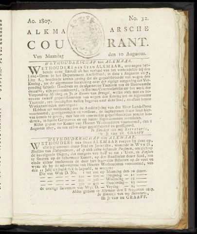 Alkmaarsche Courant 1807-08-10