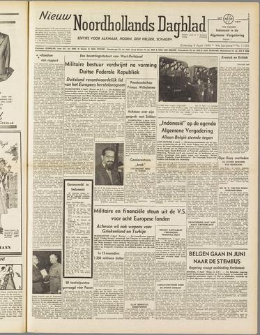 Nieuw Noordhollandsch Dagblad : voor Alkmaar en omgeving 1949-04-09