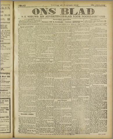 Ons Blad : katholiek nieuwsblad voor N-H 1919-02-28