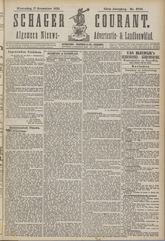Schager Courant 1920-11-17