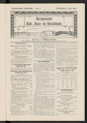 Bergensche bad-, duin- en boschbode 1926-07-17