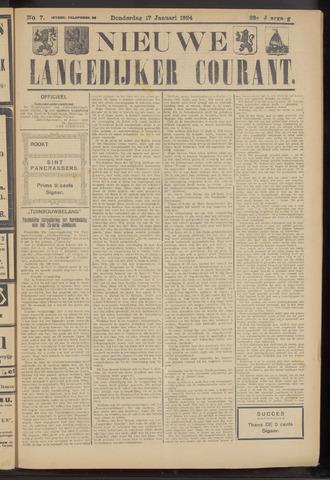 Nieuwe Langedijker Courant 1924-01-17