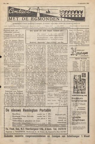 Contact met de Egmonden 1962-09-06