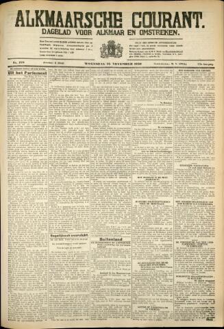 Alkmaarsche Courant 1930-11-26