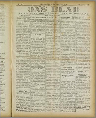 Ons Blad : katholiek nieuwsblad voor N-H 1919-09-11