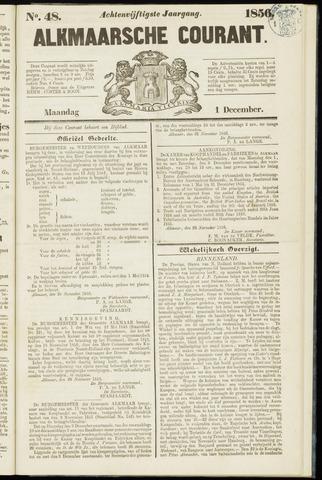 Alkmaarsche Courant 1856-12-01