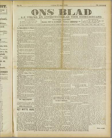 Ons Blad : katholiek nieuwsblad voor N-H 1920-04-23