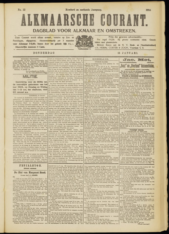 Alkmaarsche Courant 1914-01-15